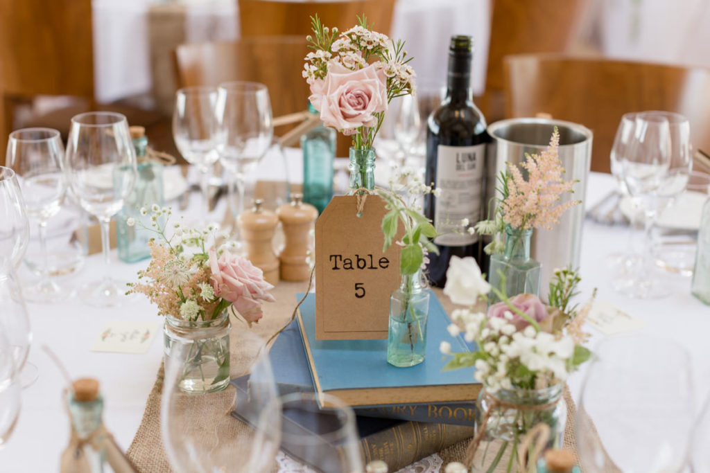 Table detail at Bassmead Manor Barns