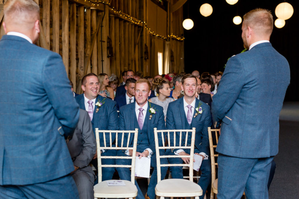 Groomsmen at Childerley Barn