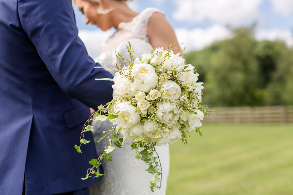 Bride's white and green bouquet