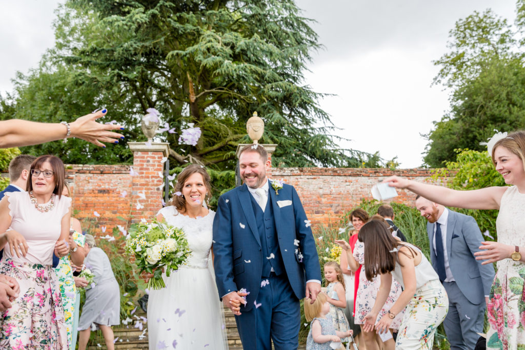Confetti at Irnham Hall