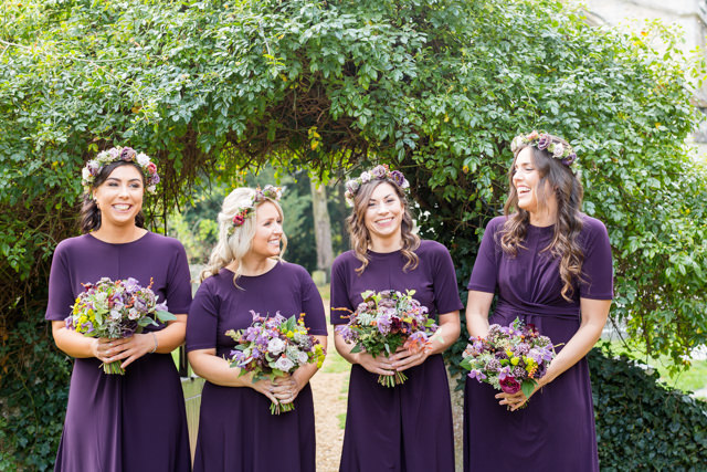 Bridesmaids with florals crowns