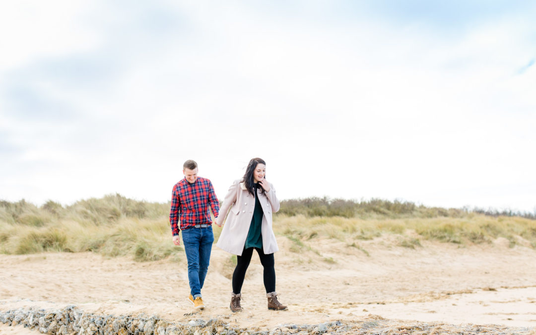 Pre-wedding shoot at Old Hunstanton, Norfolk