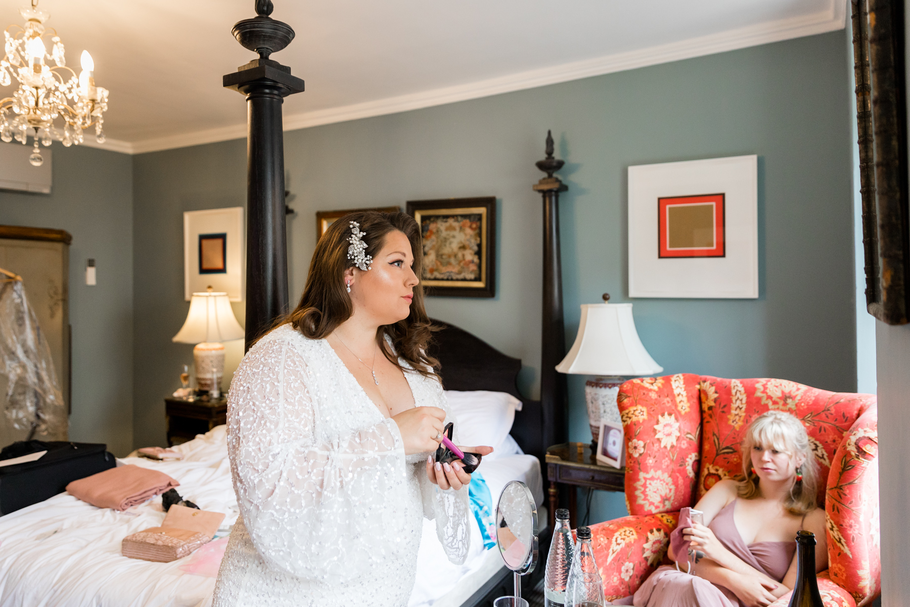 Bride prep at Assembly House Norwich