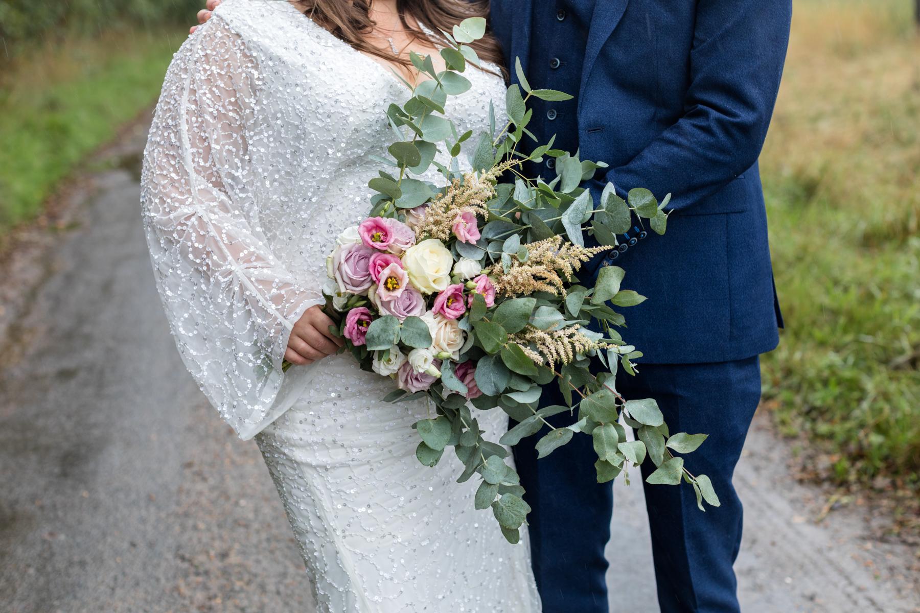 Bride's homemade bouquet