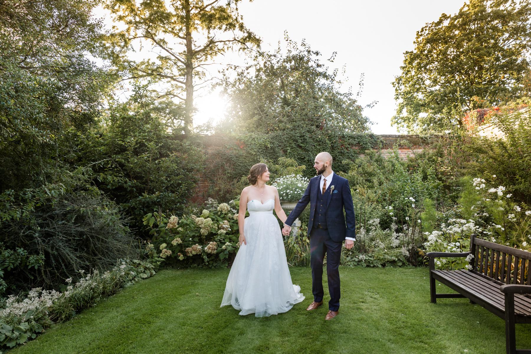 Deene Park white garden wedding