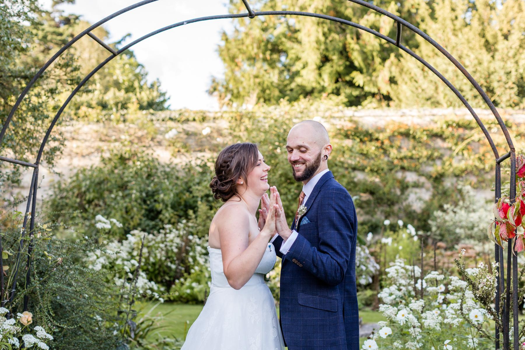 Deene Park white garden wedding close up