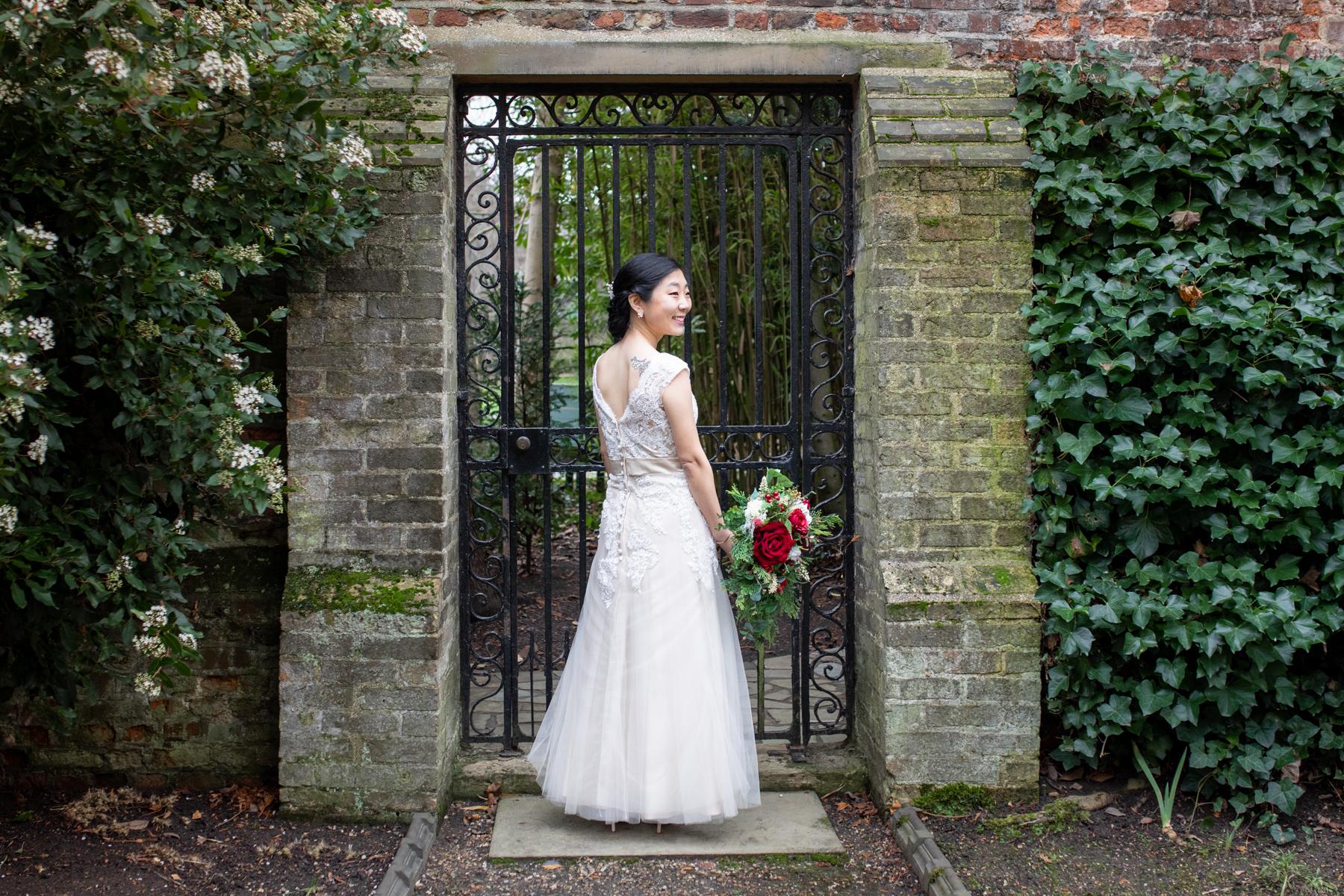 Bride at Emmanuel College